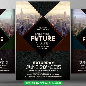 Urban City Party Free Flyer Psd Template