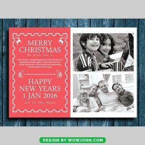 Free Kids Christmas Holiday Card Psd Template