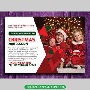 Free Kids Photos Christmas Card Psd Template