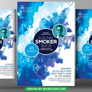 Free Hookah Smoker Party Psd Flyer Template