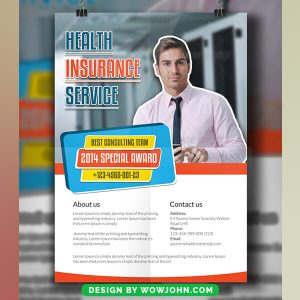 Free Health Insurance Psd Flyer Template