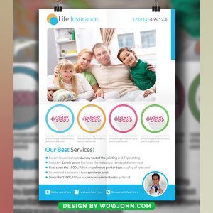 Free Life Insurance Psd Flyer Template