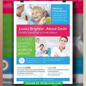 Free Dentist Clinic Psd Flyer Template