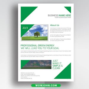 Free Green Energy Psd Flyer Template