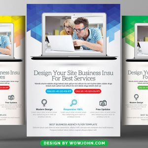 Free Web Agency Flyer Psd Template Download