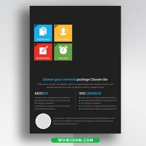 Free Bank Psd Flyer Template Download