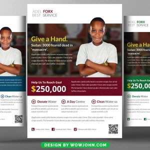 Free Charity Donation Church Flyer Psd Template