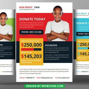 Free Volunteer Charity Flyer Psd Template