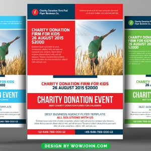 Free Charity Fundraising Flyer Psd Template