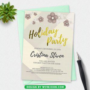 Free Christmas Postcard Invitation Psd Template