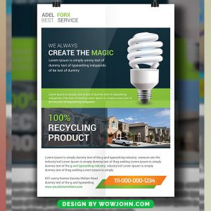 Free Utility Energy Psd Flyer Template