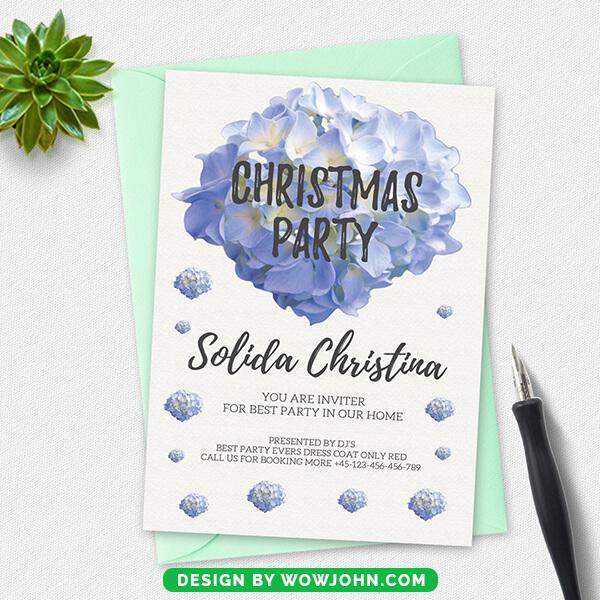 Premium Christmas Postcard Psd Template
