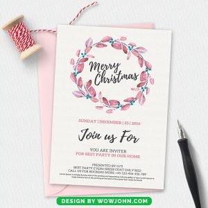 Free Christmas Best Wishes Postcard Template