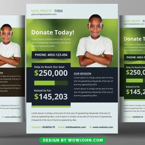 Kids Charity Donation Flyer Psd Template