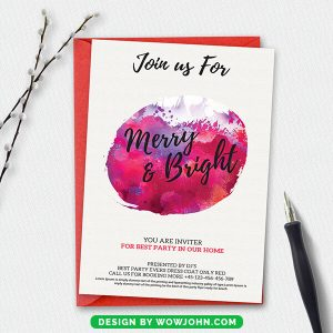 Free Christmas New Year Postcard Psd Template