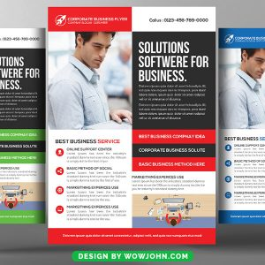 Free Software House Flyer Psd Template