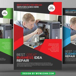 Free Computer Repair Flyer Design Psd Template