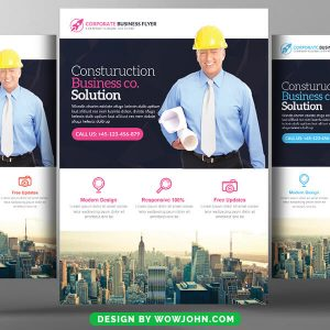 Free Construction Business Flyer Psd Template