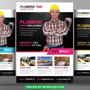 Free Plumbing Service Flyer Psd Template