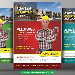 Free Plumbing Flyer Design PSD Template