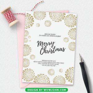 Winter Christmas Invitation Card Psd Template