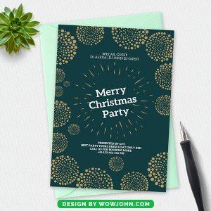 Free Elegant Christmas Invitation Card Psd Template