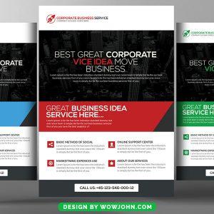Free Elegant Business Flyer Psd Template