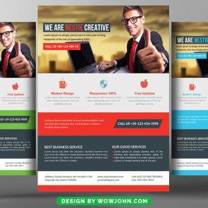 Free Flat Design Flyer Psd Template