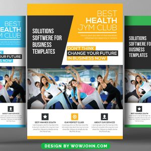 Free Fitness Gym Health Flyer Psd Template