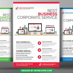 IT and Software Free Flyer Psd Template