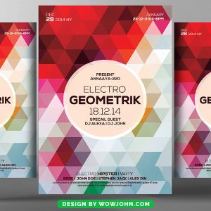 Abstract Geometric Flyer Psd Template