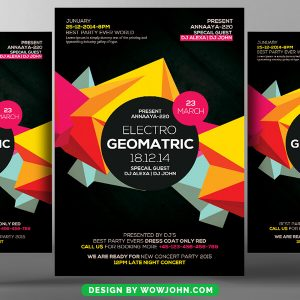 Black Abstract Party Flyer Psd Template