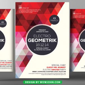 Free Hipster Party Flyer Psd Template