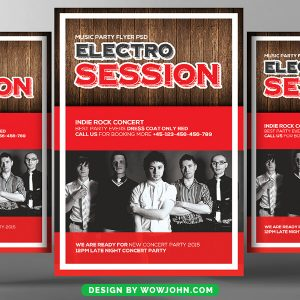 Free Retro Vintage Party Flyer Psd Template