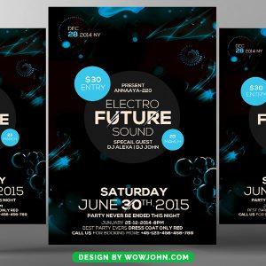 Black Electro Future Flyer Psd Template