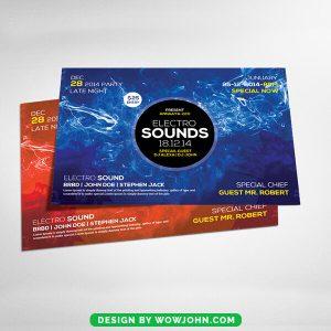 Electro Sound Flyer Card Psd Template