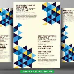 Minimal Abstract Flyer Psd Template