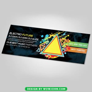 Night Club Facebook Timeline Cover Psd Template