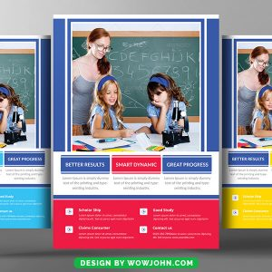 Free Simple Preschool Flyer Template PSD