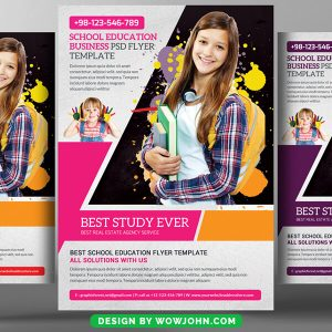 Free Computer Course Flyer Psd Template