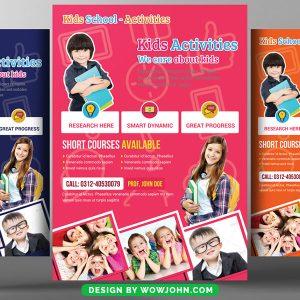 Free High School Education Psd Flyer Template