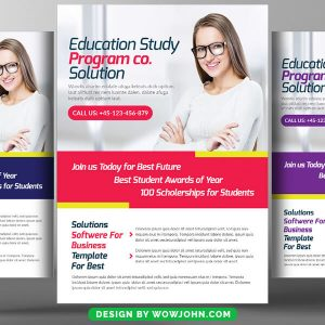 Free Education Training Psd Flyer Template