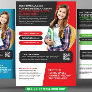 Free Talent Education Flyer Template PSD