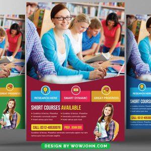 Free Education University Flyer Psd Template