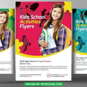 Free Kids School Education Psd Flyer Template