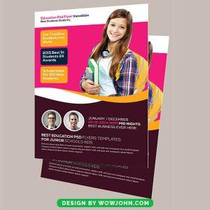 Free Kindergarten Psd Flyer Template Download