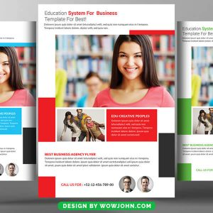 Free Study Abroad Flyer Psd Template