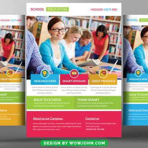 Free University Admission Flyer Psd Template