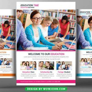 Free Teacher Education Flyer Psd Template