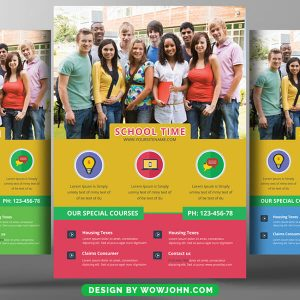 Free College Flyer Templates PSD Download